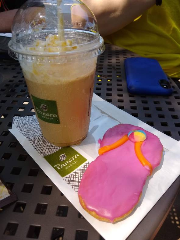 Panera cookie and coffee