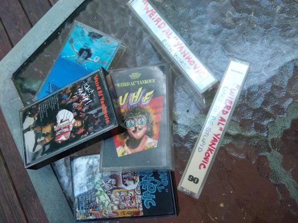 Weird Al cassettes