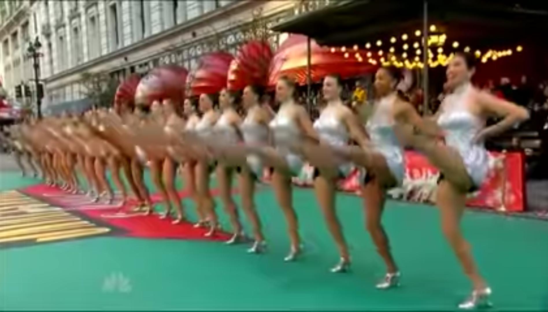 Rockettes kick lively 2012 Parade