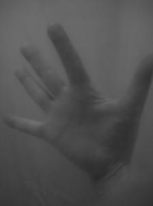 HAND AGAINST MY WINDOW ART