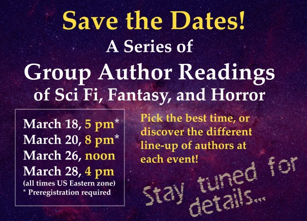 Save the Date March 20, 2021 reading