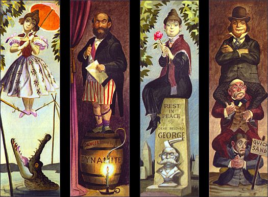 WDW Haunted Mansion Stretching Room Portraits