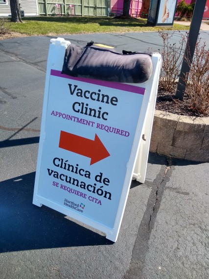 Vaccine Clinic Sign