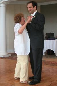 Chuck dances with Auntie Del