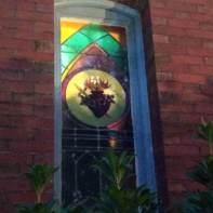 Belfry Inn -- stained glass