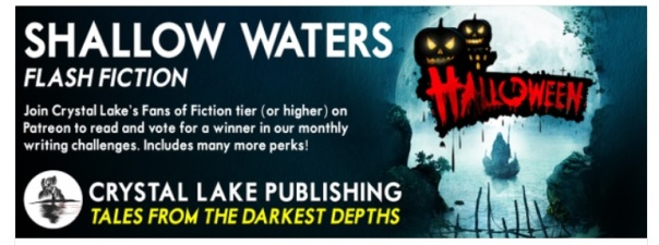 Crystal Lake Publishing Shallow Waters Halloween Challenge 2021 Logo